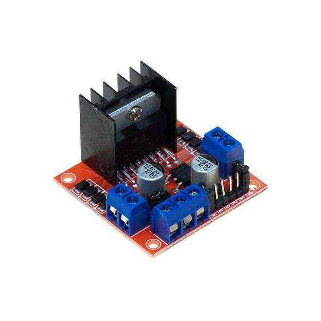 Voltaj Regulatörlü Çift Motor Sürücü Kart L298N